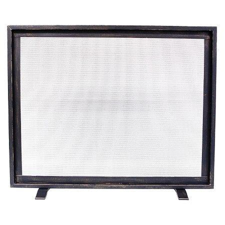 Threshold™ Flat Panel Fireplace Screen - Black with Brushed Bronze Finish : Target