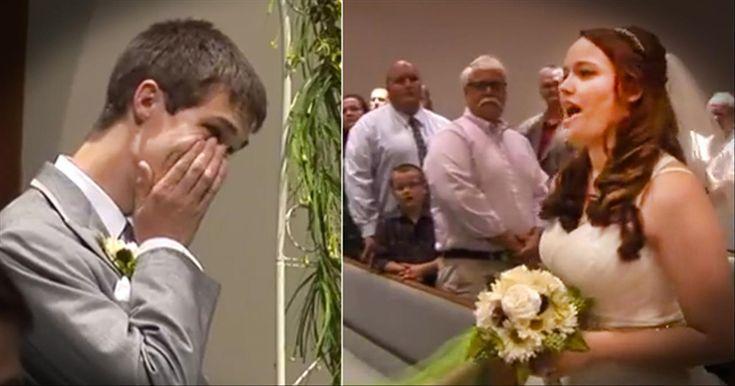 Bride Sings 'Look At Me' As She Walks Down The Aisle
