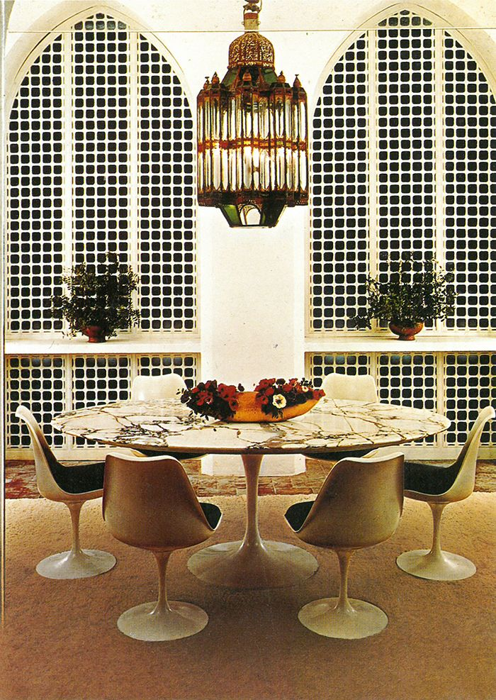 Yves Vidal's York Castle in Tangiers, Morocco | PC: Knoll Archive | Knoll Inspiration
