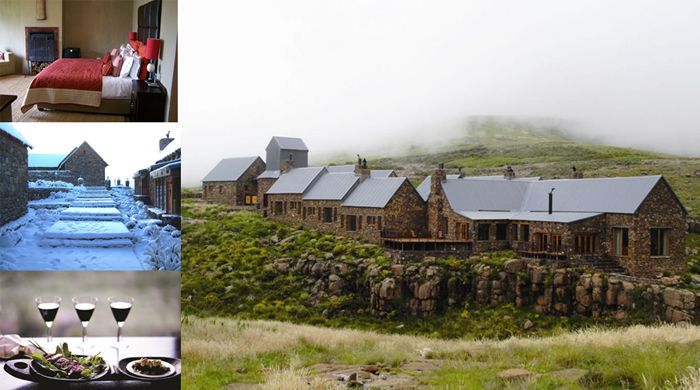 Tenahead Mountain Lodge   In a secluded region of South Africa where the hand of man has brushed it but slightly, you will find a secret gem, Tenahead Mountain Lodge a spectacular 5 star lodge situated 2500 meters above sea level and surrounded the breath-taking Drakensburg, Wittleberg and Maluti Mountains.