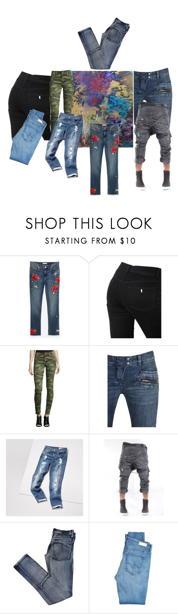 """Jeans it up!"" by ester77zoe ❤ liked on Polyvore featuring STELLA McCARTNEY, True Religion, Balmain, Cheap Monday and AG Adriano Goldschmied"