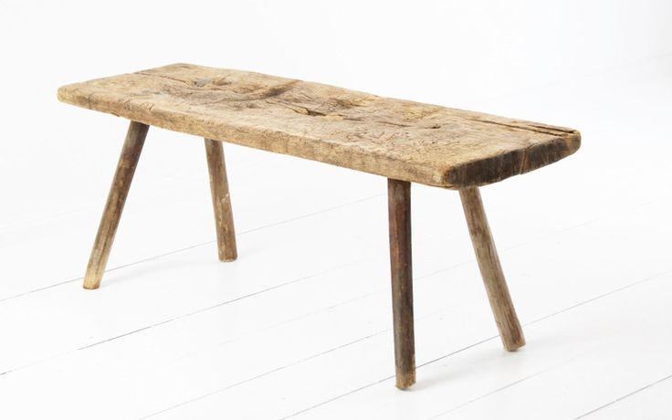 Weiteres – Kleine Holzbank antik – ein Designerstück von boheme-living bei DaWanda