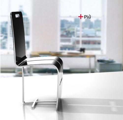 Chaise empilable design Più par Young Hwan KIM