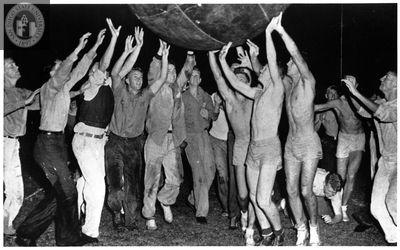Pushball, frosh vs. soph, 1950