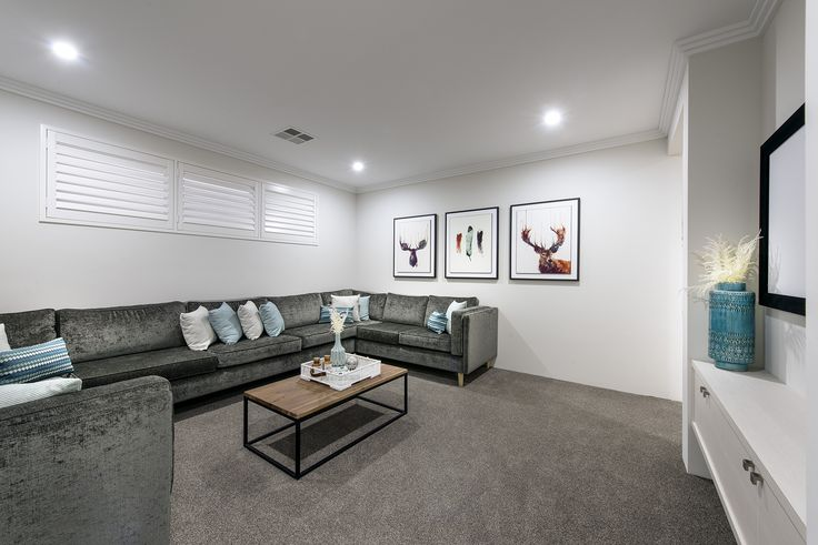 Spacious home theatres © Ben Trager Homes | On display in Perth