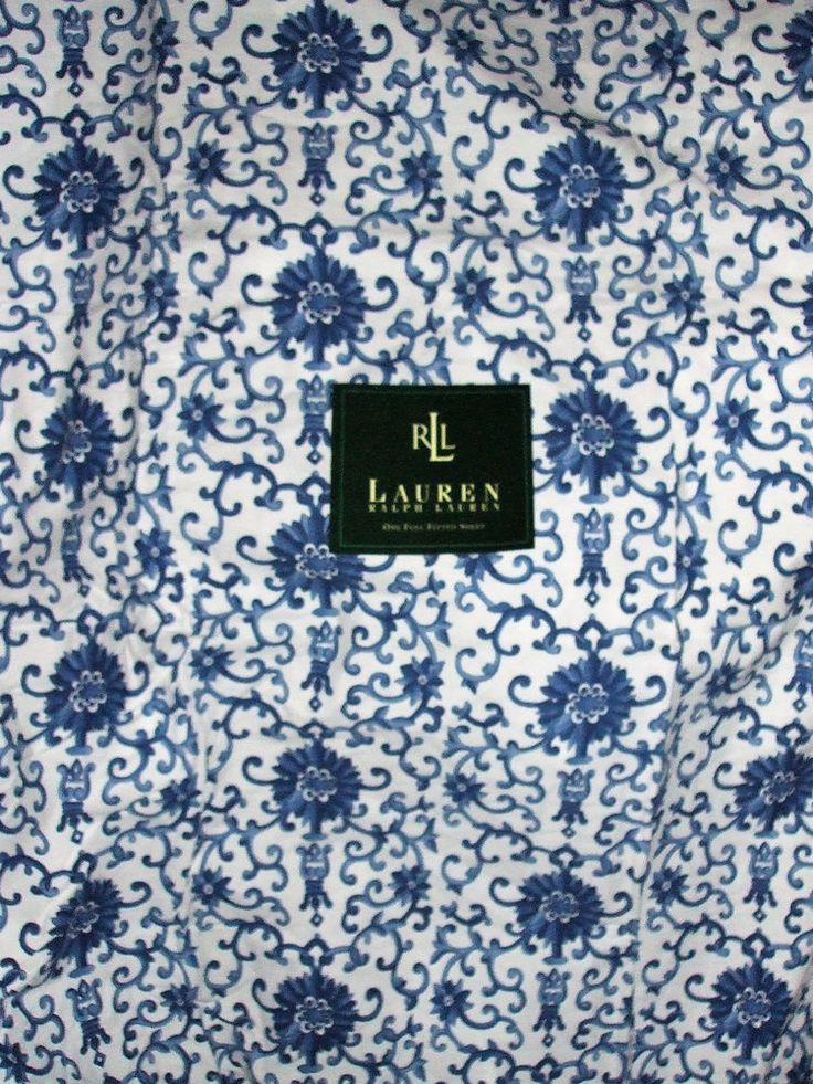 Ralph Lauren Rosette Full Fitted Sheet Porcelain Blue White NEW out of Package #RalphLauren #Asian