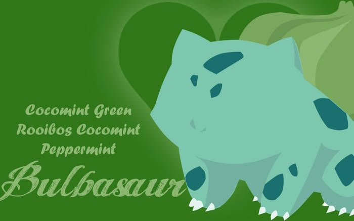 A hearty, strong chocolate-mint will vine whip your tastes into shape with this Bulbasaur inspired tea!