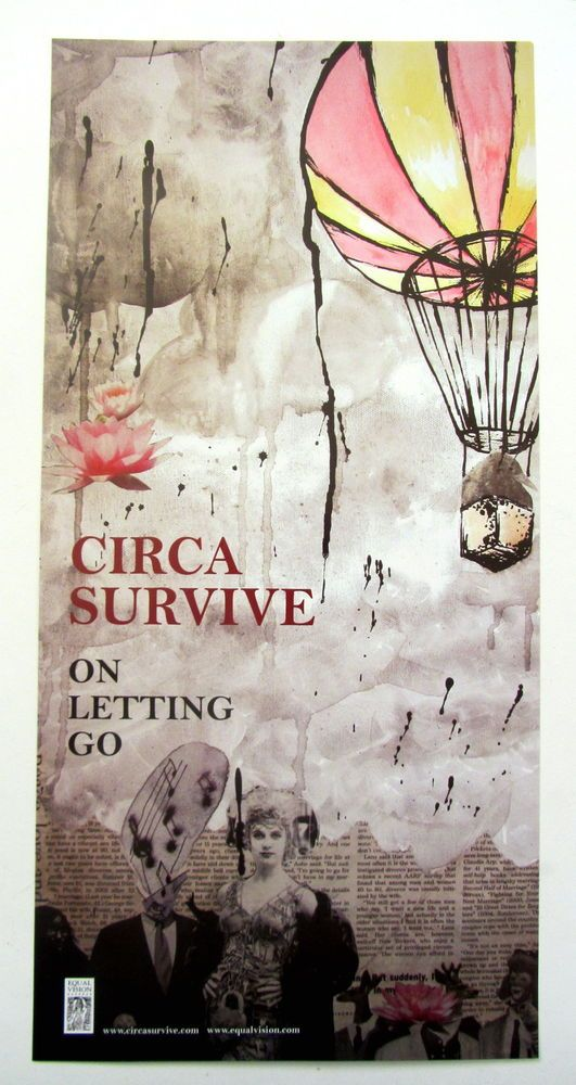 Circa Survive *On Letting Go* Poster Saosin Anthony Green Blue Sky Noise Juturna