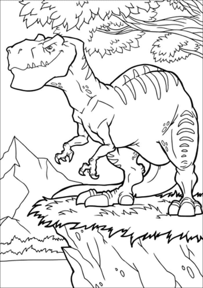 Allosaurus Dinosaur Coloring Pages From Dinosaur Coloring Pages