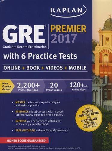 52 best test preparation images on pinterest test preparation med gre premier 2017 with 6 practice tests online book videos mobile kaplan test prep fandeluxe Choice Image