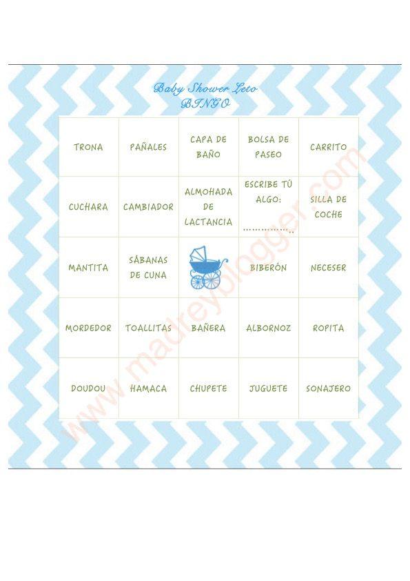 Babyshower - Bingo - Cómo organizar una baby shower: decoración, comida, colores, juegos para niño
