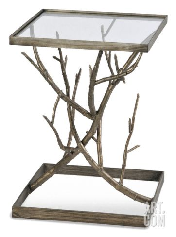 Antique Silver Branch End Table Home Accessories At Art.com