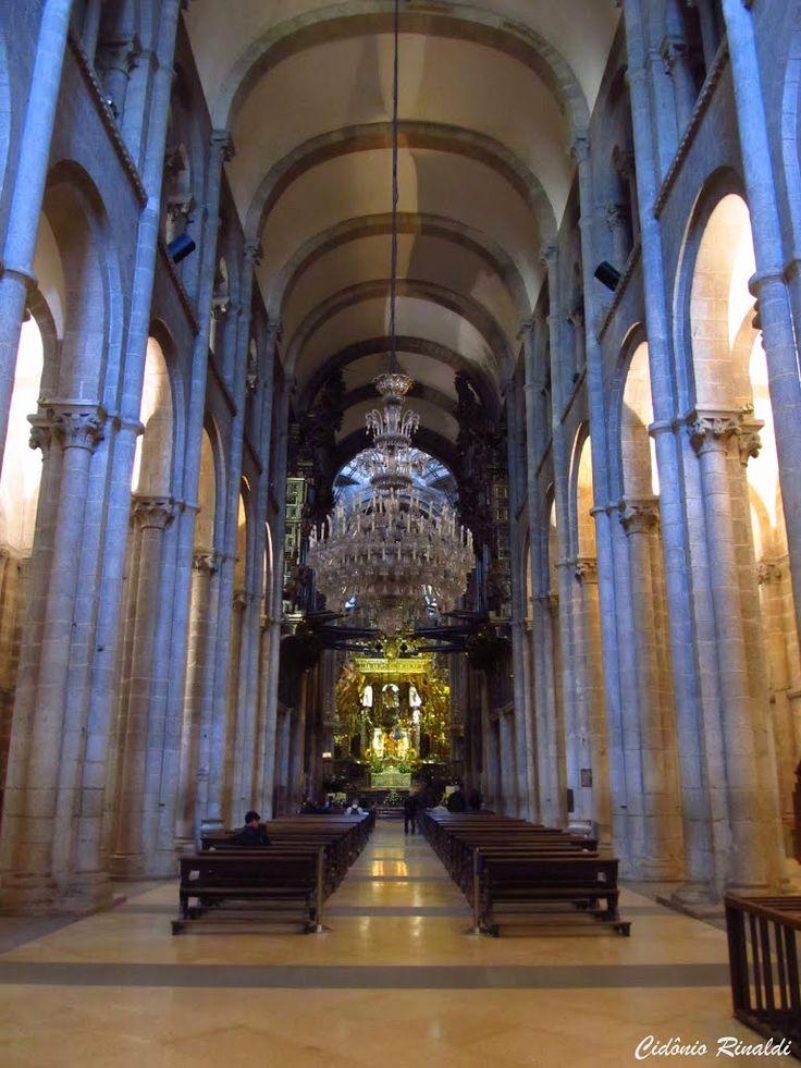 Interior da catedral de santiago de compostela espanha - Interior santiago de compostela ...