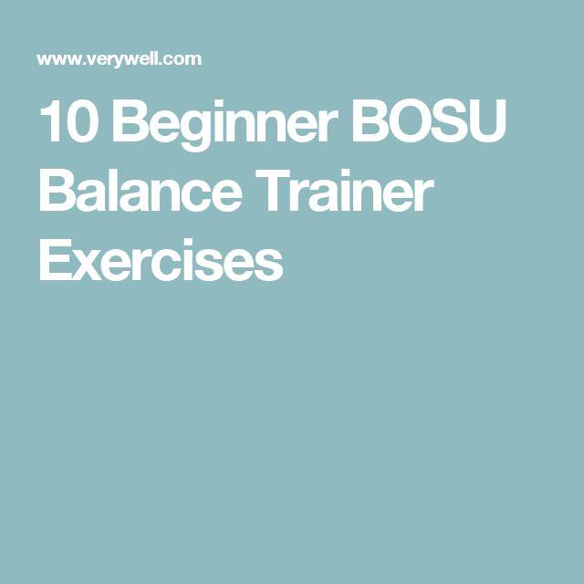 Bosu Ball Chair: 1000+ Ideas About Balance Exercises On Pinterest