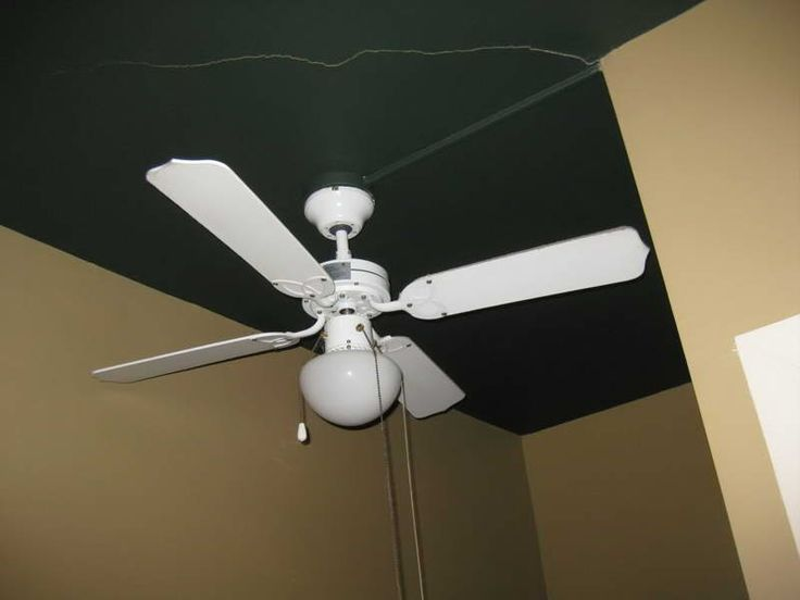 ceiling fan blades replacement roof with black color