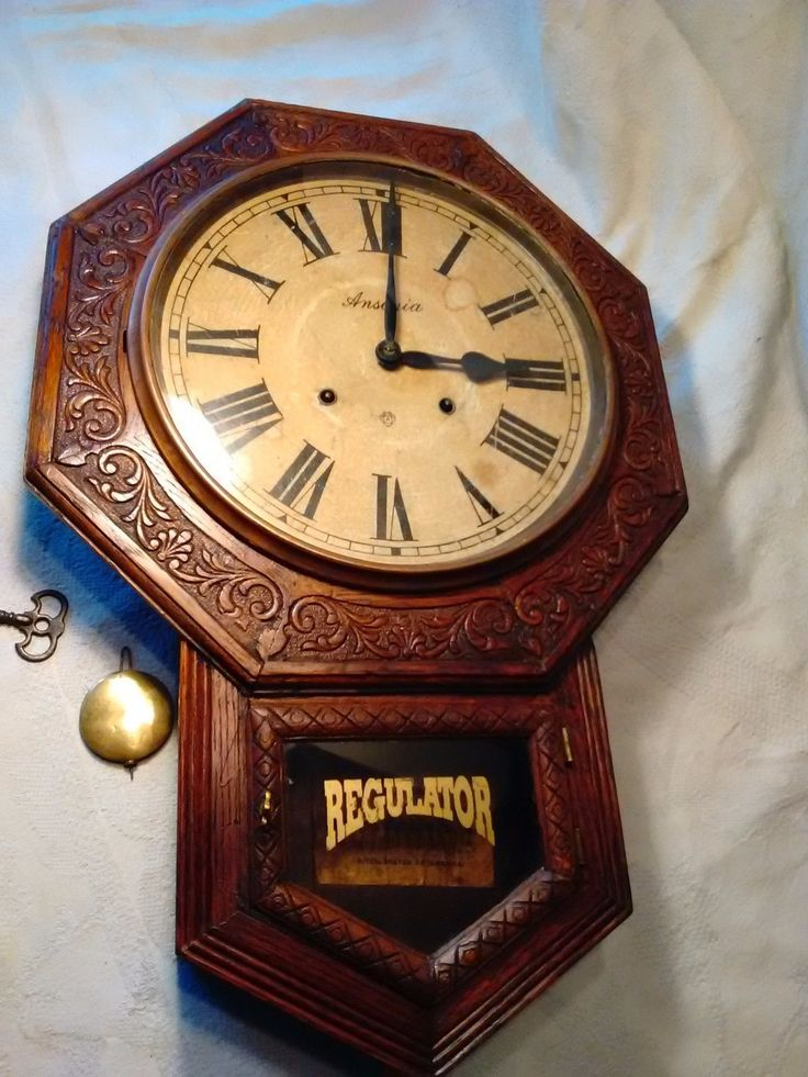ANTIQUE ANSONIA WALL CLOCK | eBay