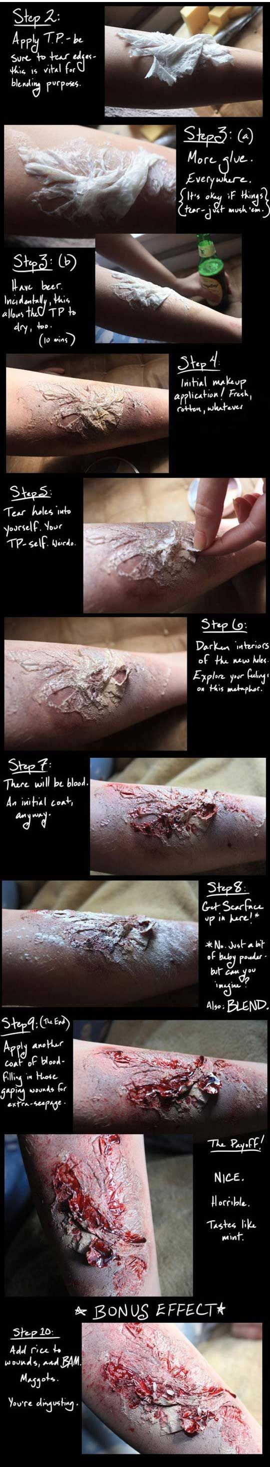 joindarkside » WOUND MAKEUP TUTORIAL!