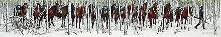 Two Indian Horses - Bev Doolittle - World-Wide-Art.com - $4550.00 #Doolittle #NativeAmerican