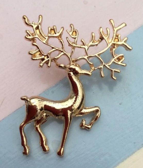 Gold Plated Reindeer Brooch #goldplated #reindeer #brooch #christmas #xmas #present #jewellery #womensfashion #ladies #fashion #animals http://m.ebay.co.uk/itm/Free-Gift-Bag-Gold-Plated-Reindeer-Brooch-Christmas-Xmas-Cute-Jewellery-/282129257179?nav=SELLING_ACTIVE