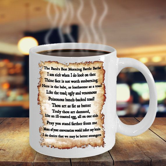 Shakespearean Insults Mug  Shakespeare Insult by CountertudeForAll