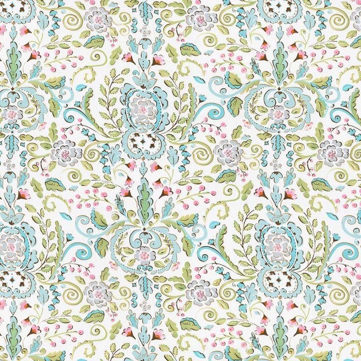 Love Bird damask Leanika Maison Jardin cotton fabric by the yard ivory DF66 - Dena Designs by Laminates on Etsy https://www.etsy.com/listing/251703029/love-bird-damask-leanika-maison-jardin