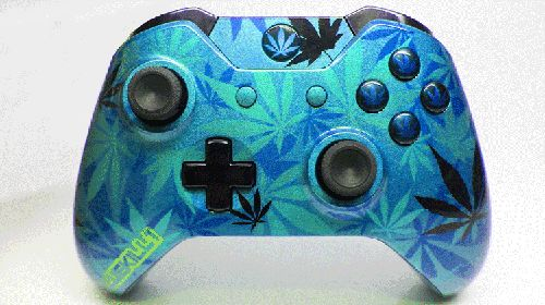Blue Weed Camo Custom Xbox One Controller