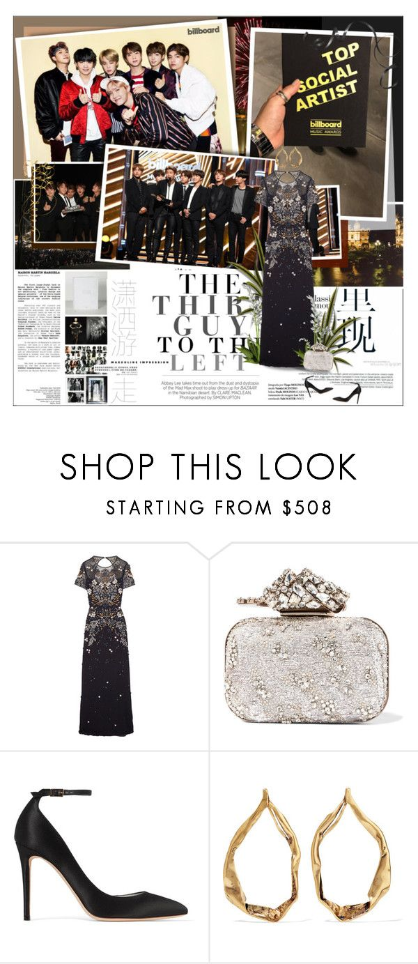 """""""BTS :: """"Bringing it to Billboard"""" :: Top Social Artist Win!"""" by meemeect18 ❤ liked on Polyvore featuring Kershaw, Jenny Packham, Jimmy Choo, Tom Ford, army, Billboard, BillboardMusicAwards, bts and topsocialartist"""