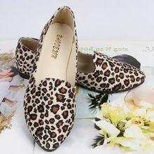 2015 nueva moda estilo europeo mujeres talón plano solos zapatos zapatos de lona estampado leopardo zapatos del barco pisos mujeres de los zapatos ocasionales(China (Mainland))