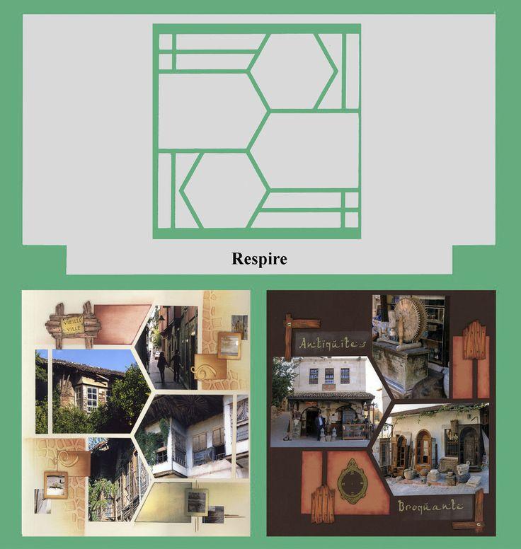 Scrapbooking layout | Gabarits Azza Respire