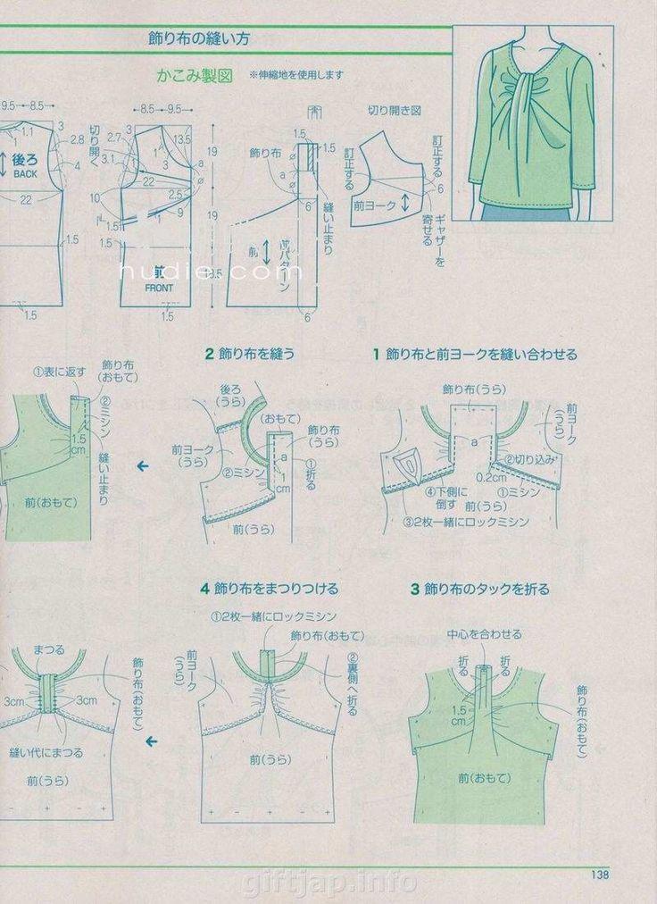 blusa anudada en el centro.