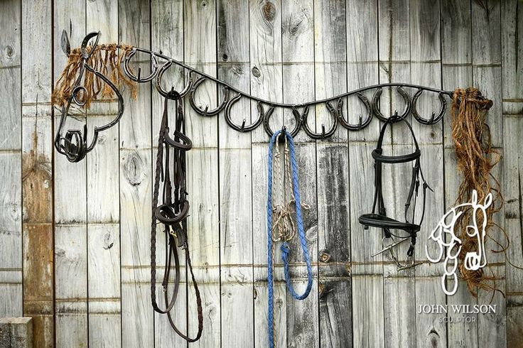 Cool awesome horse art with horse shoes created into being the whole horse and used as hangers for bridles, halters and tacks. This is amazing!. Please also visit www.JustForYouPropheticArt.com for more colorful art you might like to pin or purchase. Thanks for looking!