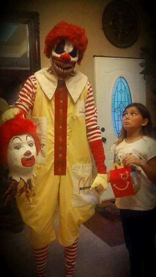 Traumatized by Halloween horror clown beheads Ronald McDonald