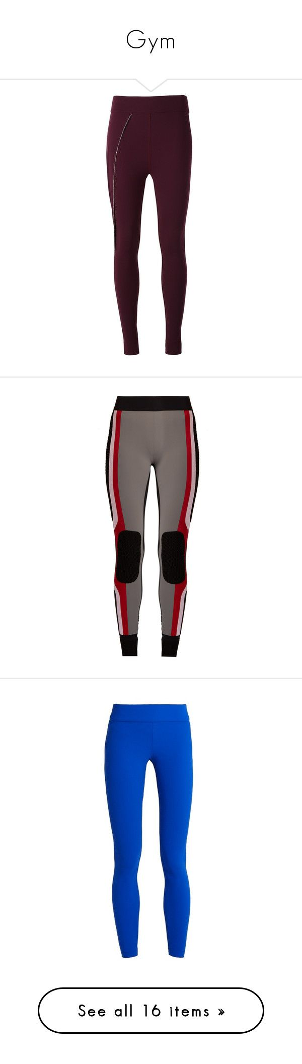 """""""Gym"""" by tynabrookler ❤ liked on Polyvore featuring pants, leggings, purple, legging pants, lycra pants, embellished pants, spandex leggings, spandex pants, activewear and activewear pants"""