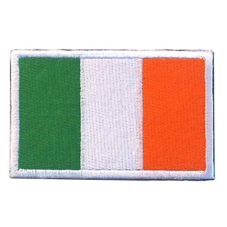 50pcs/set Embroidered Ireland Flag Patches Army Hook & Loop Patch 3D Tactical Military Patches Fabric Armband National Badge new