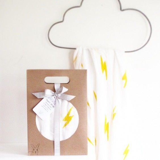 Burrow & Be - Lightening Bolt Bamboo/Cotton Muslin