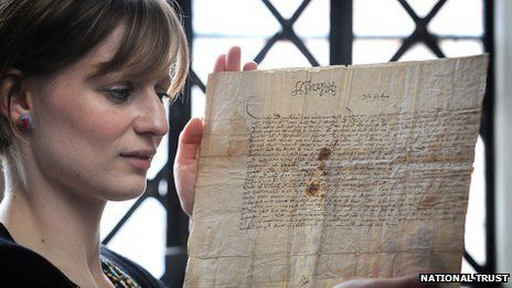 King Henry VIII letter found at Dunham Massey