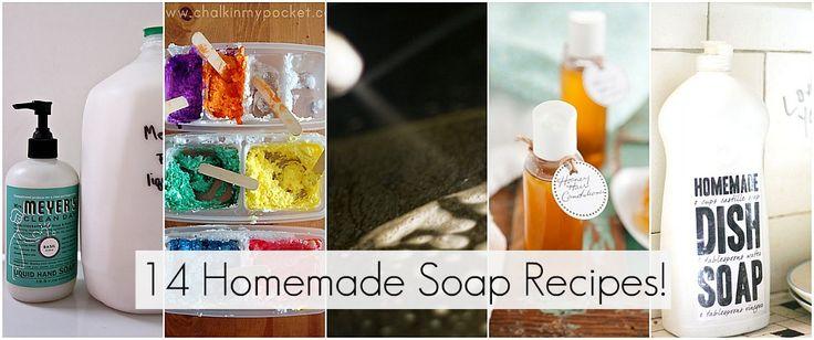 14 homemade household recipes!: Homemade Clean Solutions, Homemade Soap Recipes, Cleaners Recipes, Doggies Stuff, Homemade Soaps Recipes, 14 Diy, Home Made Soaps, Homemade Clean Recipes, 14 Homemade