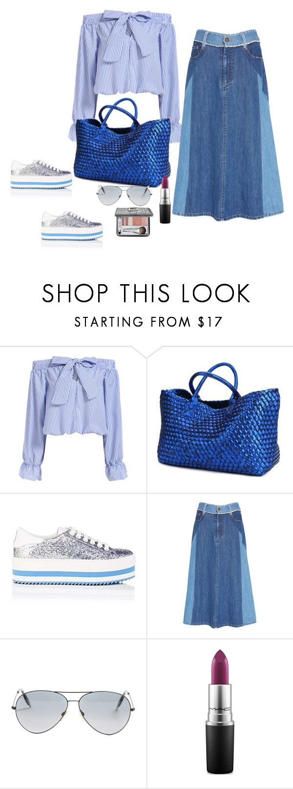 """""""Paseo de la tarde"""" by carolortiz ❤ liked on Polyvore featuring Marc Jacobs, Sea, New York, Victoria Beckham, MAC Cosmetics and Christian Dior"""