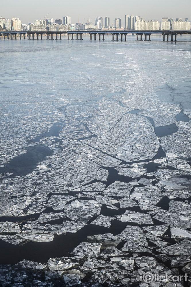 #한강 #결빙 #얼음 #서울 #풍경 #겨울 #한파 #포토 #스톡사진 #엔파인 #아이클릭아트