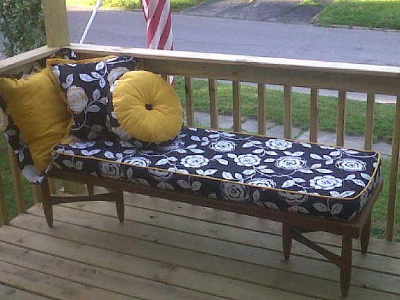 "Custom cushion maker ....Custom cushion wrapped foam core 27"" or longer on Etsy, $125.00"
