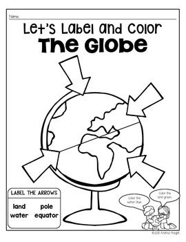 This 50-page set includes many resources to supplement your instruction on maps and globes, including vocabulary posters, student learning sheets, a FUN FACTS history book, two higher-order projects, and original poems to integrate shared reading and phonics instruction. #mapsandglobes $