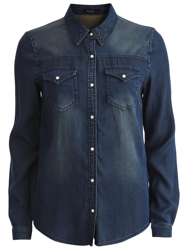 VIBUSTA - DENIM SHIRT, Medium Blue Denim