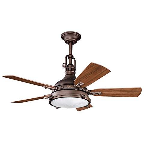 "44"" Kichler Hatteras Bay Weathered Copper Finish Ceiling Fan - #N0852   LampsPlus.com"