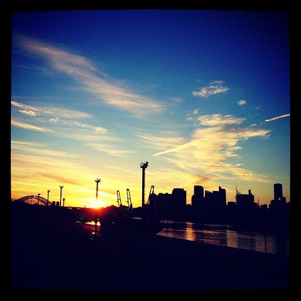 City sunrise