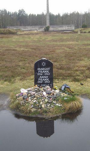 Anne Frank's gravestone