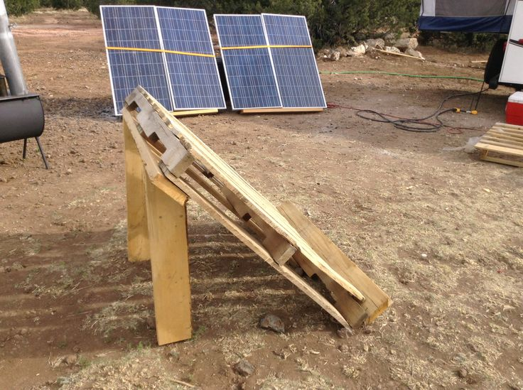 DIY solar panel stand. We have a solar panel generator that requires