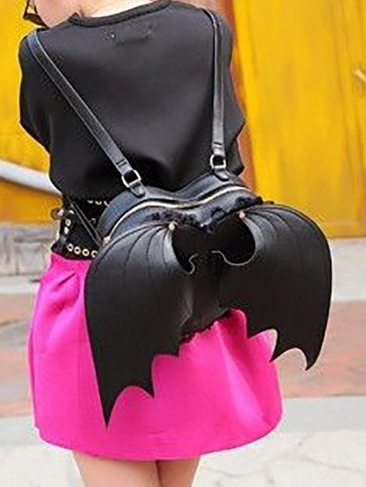 Shop Bags Wings Design Heart-shaped Backpack