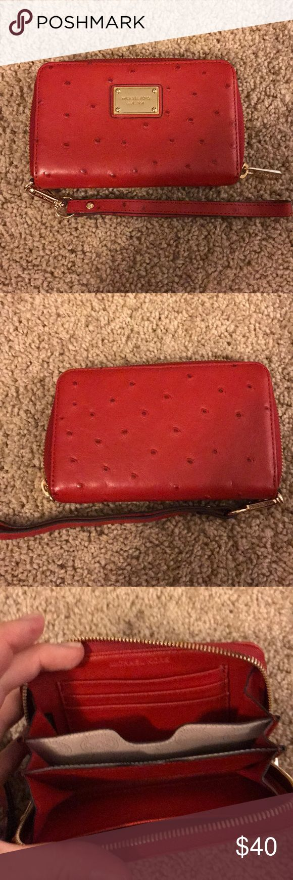 Michael Kors Red Wristlet/ Wallet Never used! Michael Kors Bags Wallets