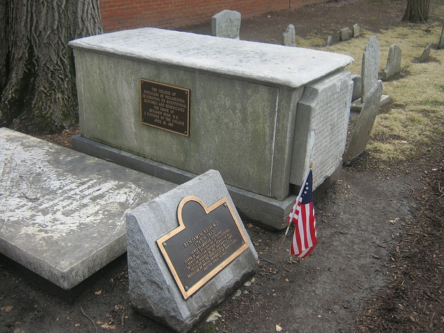 Benjamin Rush is buried at the Christ Church Burial Ground in downtown Philadelphia, Pa.