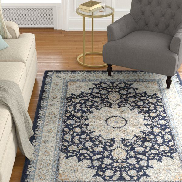 Just For You Highcliffe Navy Light Blue Area Rug By Astoria Grand